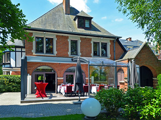 Restaurant patio enclosure CORSO HORECA - installed in Belgium